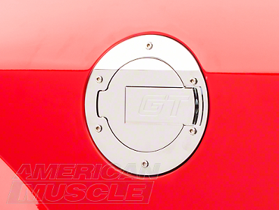MMD Chrome Billet Aluminum Fuel Door - GT Logo (05-09 All)