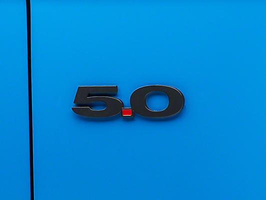 Matte Black Coyote Style 5.0 Emblem - Pair