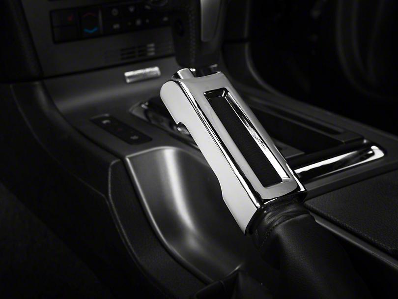 Modern Billet Chrome E-Brake Handle Cover (10-14 Rubber, 10-12 Leather)