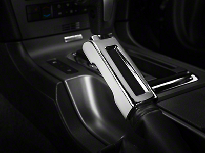 Modern Billet Chrome E-Brake Handle Cover (10-14 Rubber, 10-12 Leather)