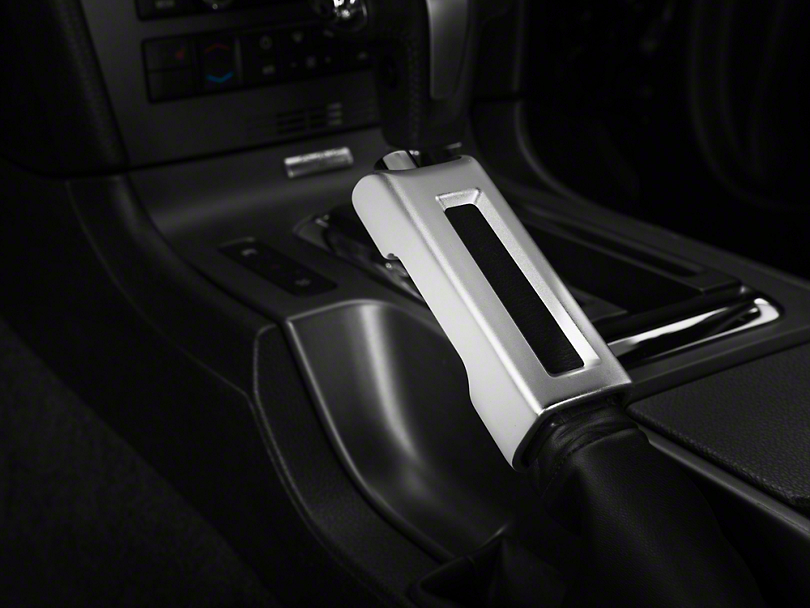 Modern Billet Satin E-Brake Handle Cover (10-14 Rubber, 10-12 Leather)