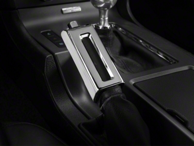 Modern Billet Chrome E-Brake Handle Cover (13-14 Leather)