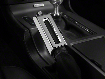 Chrome E-Brake Handle Cover (13-14 Leather)