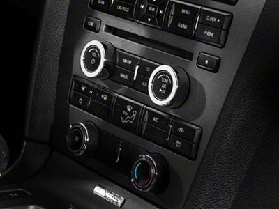 Modern Billet Chrome Radio Control Knob Covers (10-14 w/o NAV)