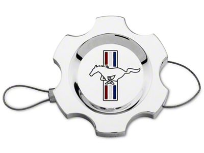 Add Modern Billet Chrome Power Steering Cap - Tri-Bar Logo