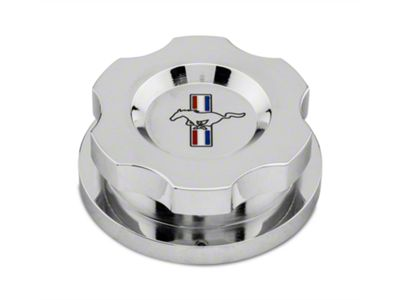 Add Modern Billet Chrome Radiator Cap Cover - Tri-Bar Logo