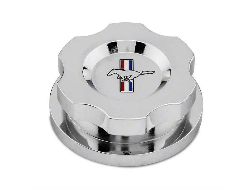 Modern Billet Chrome Radiator Cap Cover - Tri-Bar Logo (96-14 All)