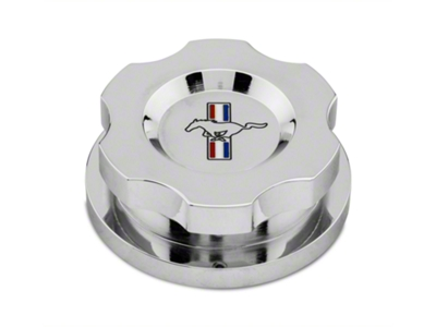Modern Billet Chrome Radiator Cap Cover - Tri-Bar Logo (96-14 All)