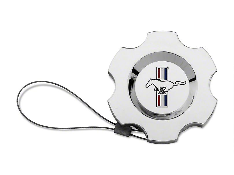 Modern Billet Chrome Washer Fluid Cap - Tri-Bar Logo (96-09 All)