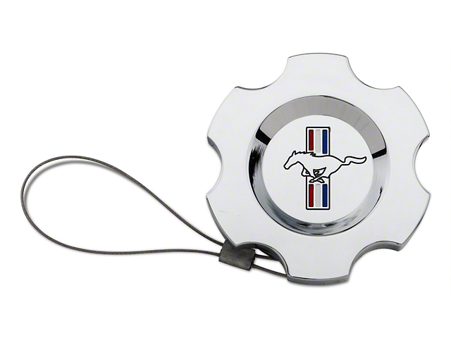 Modern Billet Chrome Washer Fluid Cap - Tri-Bar Logo (10-14 All)