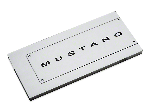modern billet mustang chrome fuse box cover mustang lettering modern billet chrome fuse box cover mustang lettering 05 09 all