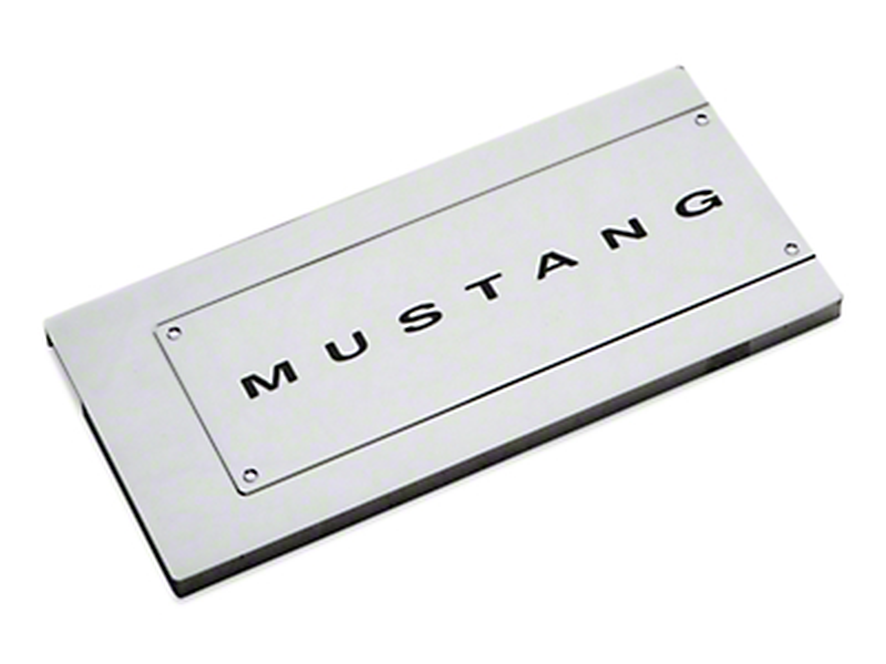 Modern Billet Chrome Fuse Box Cover - Mustang Lettering (05-09 All)