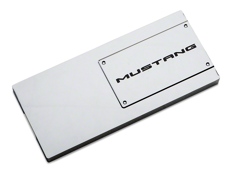 Modern Billet Chrome Fuse Box Cover - Mustang Lettering (10-14)