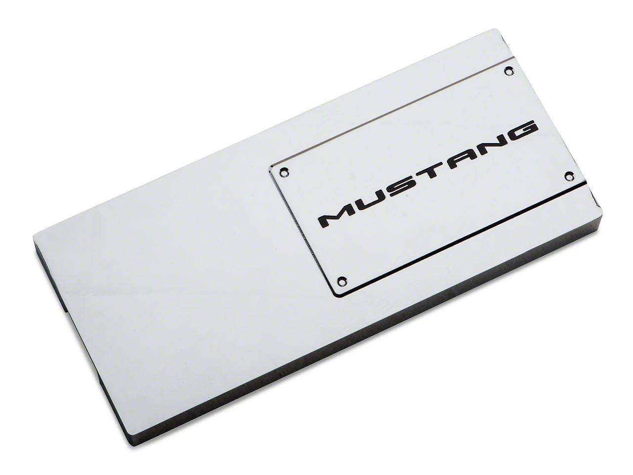 Modern Billet Chrome Fuse Box Cover - Mustang Lettering (10-14)