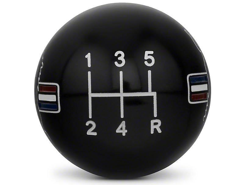 Modern Billet Retro Style 5-Speed Shift Knob w/ Tri-Bar Pony Logo - Black (05-10 GT, V6)