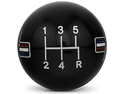 Modern Billet Retro Style 5-Speed Shift Knob w/ Tri-Bar Pony Logo - Black (05-10 GT, V6)