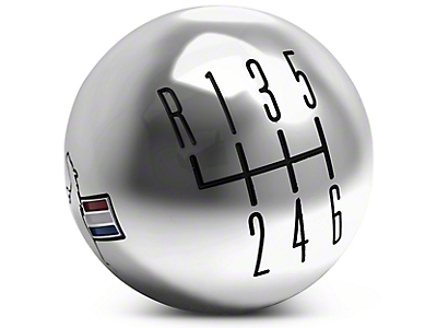 Modern Billet Retro 6-Speed Shift Knob w/ Tri-Bar Logo - Chrome (11-14 All)