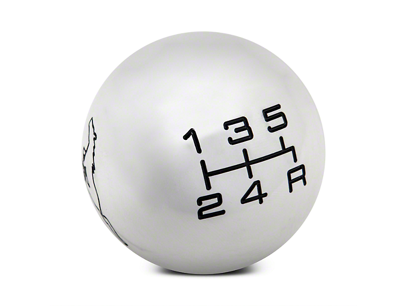Modern Billet Mach 1 Style Shift Knob w/ Running Pony Logo (79-04 All; Excludes 03-04 Cobra)