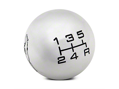 Modern Billet Mach 1 Style Shift Knob w/ Running Pony Logo (79-04 All)