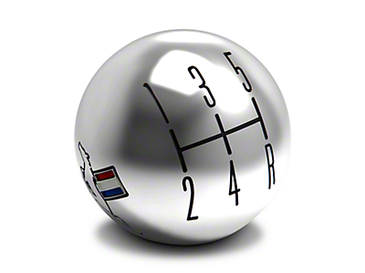Modern Billet 2010 Style Shift Knob w/ Tri-Bar Logo - Chrome (05-10 All)