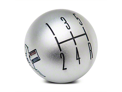 Modern Billet 2010 Style Shift Knob w/ Tri-Bar Logo - Satin (05-10 All)