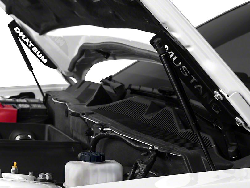 MMD Bolt On Hood Strut Kit w/ Mustang Lettering - Black (05-14 All)
