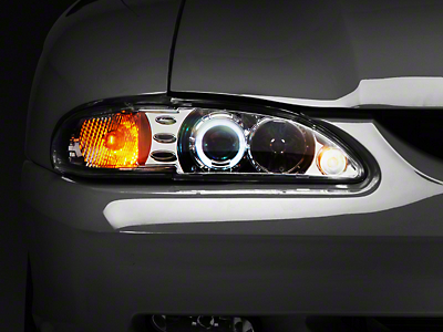 Raxiom Chrome Projector Headlights - LED Halo (94-98 All)
