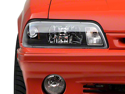 AM Lights Black One-Piece Headlights (87-93 All)