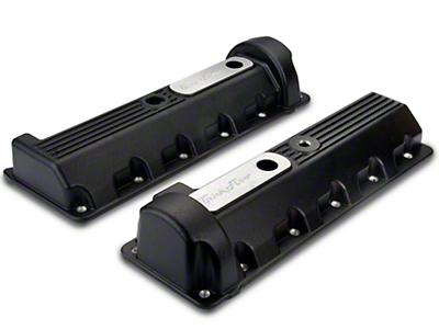 Trick Flow Aluminum Black Valve Covers - 11 Bolt (96-04 GT)