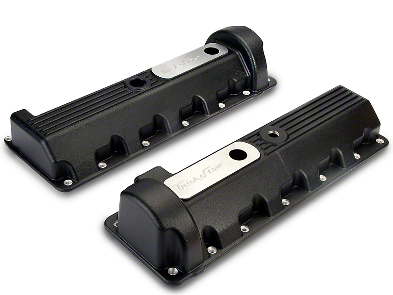 Trick Flow Aluminum Black Valve Covers - 13/14 Bolt (96-04 GT)