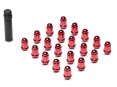 Red 6 Spline Lug Nuts - 1/2 in. x 20 (79-14 All)