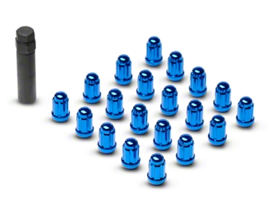 Blue 6 Spline Lug Nuts (79-14 All)