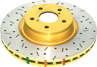 Cross-drilled/Slotted Rotors - Front Pair (05-10 V6)