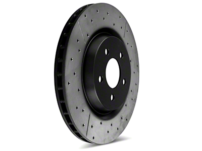 DBA X-Gold Series Cross Drilled/Slotted Rotors - Front Pair (94-04 Bullitt, Mach 1, Cobra)