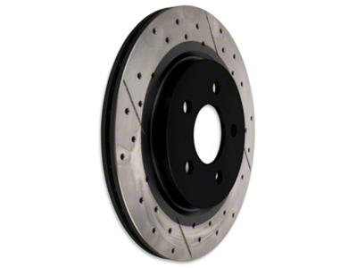 DBA X-Gold Series Cross Drilled/Slotted Rotors - Rear Pair (05-14 GT, V6)