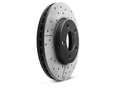 DBA X-Gold Series Cross Drilled/Slotted Rotors - Front Pair (94-04 GT, V6)