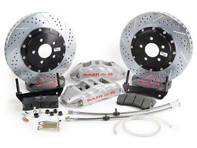 Baer Extreme Plus Front Brake Kit - Silver (05-14 All)