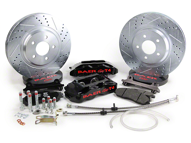 Baer Track-4 Front Brake Kit - Black (94-04 All)