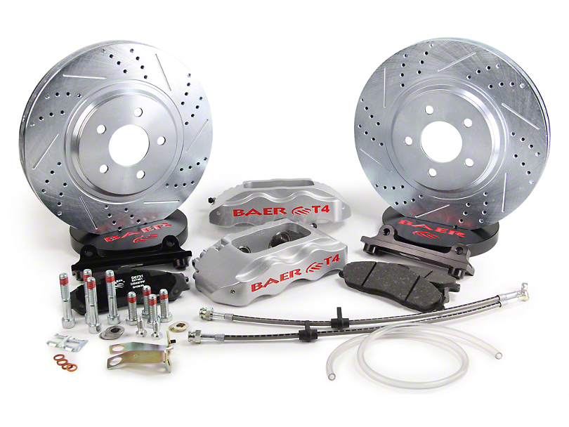 Baer Track-4 Front Brake Kit - Silver (94-04 All)