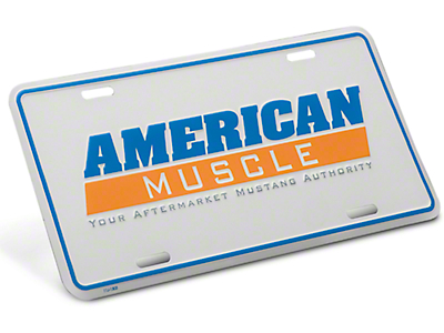 American Muscle License Plate - White