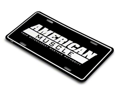 American Muscle License Plate - Black