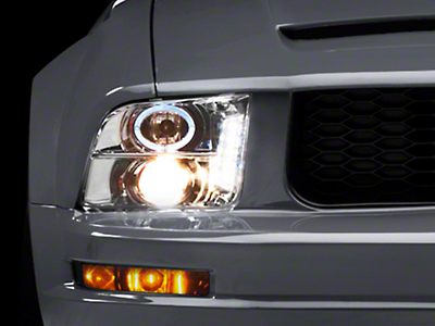 Raxiom Chrome Projector Headlights - CCFL Halo (05-09 GT, V6)