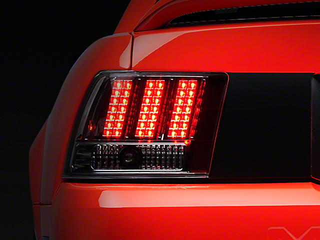 Axial Chrome 3-Light LED Tail Lights (99-04 All; Excluding Cobra)