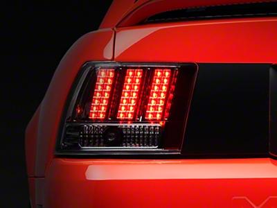 Chrome 3-Light LED Tail Lights (99-04 GT, V6, Mach 1)