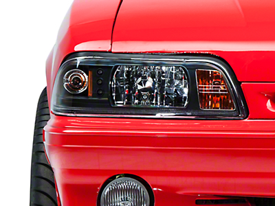 Black One-Piece Headlights (87-93 All)