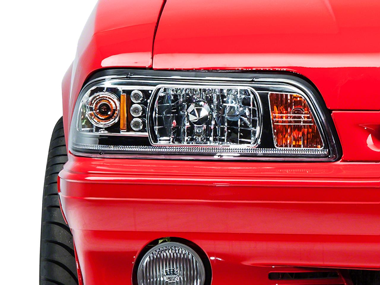 Chrome One-Piece Headlights (87-93 All)