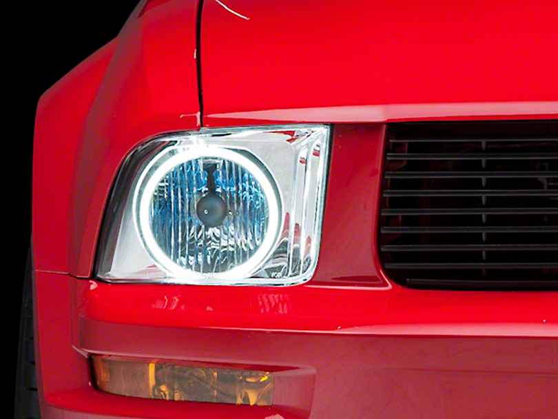 Axial Chrome Headlights - CCFL Halo (05-09 GT, V6)