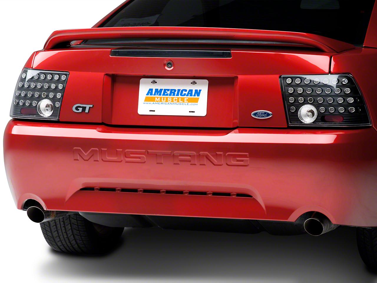 Black Solid LED Tail Lights (99-04 GT, V6, Mach 1)