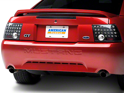 Black Solid LED Tail Lights (99-04 GT, V6, Mach 1)