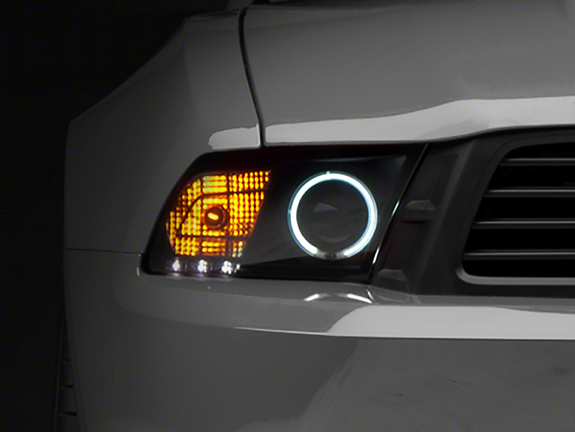 Raxiom Smoked Projector Headlights - CCFL Halo (10-12 GT, V6 with Factory HID)